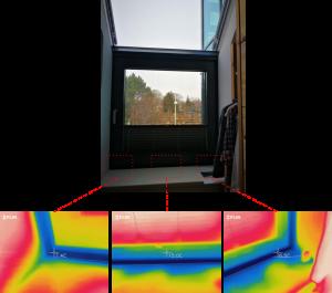 Wärmebild-Fenster-Leibung