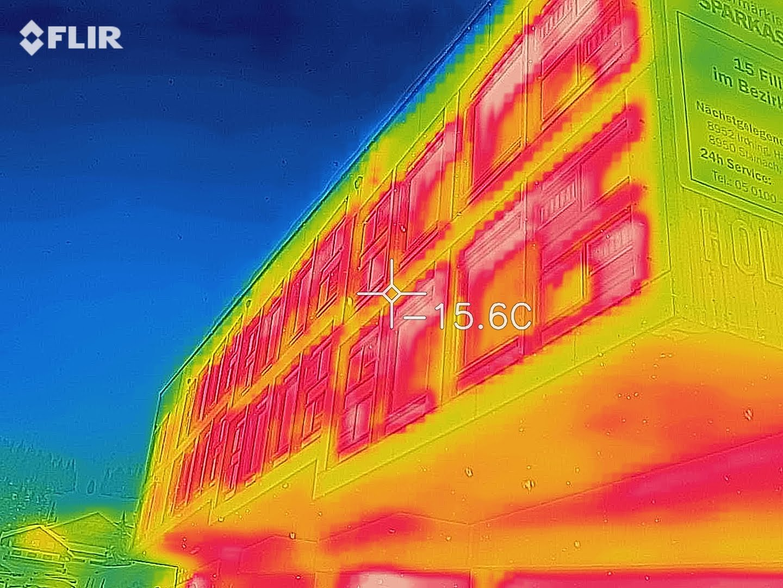 Thermografie Fassade Wärmebrücken
